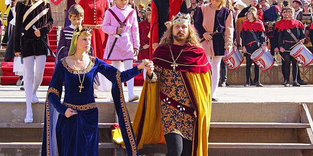 Historical Procession- King and Queen, Znojmo Wine Festival
