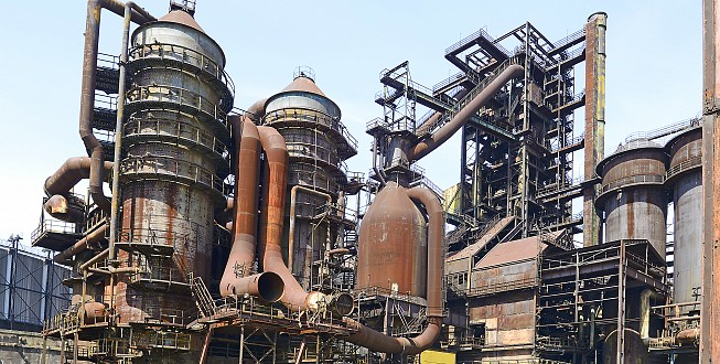 Former blast furnaces in metallurgical area of Lower Vitkovice, Ostrava