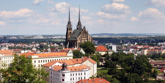 Brno Cathedral of Saint Peter and Paul in Brno, Czech republic