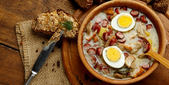 Traditional Polish soup ''Zurek''