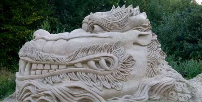 Chinese dragon at Lednice exhibition (2015)