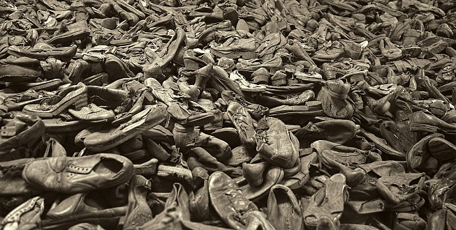 Pile of shoes, Auschwitz I