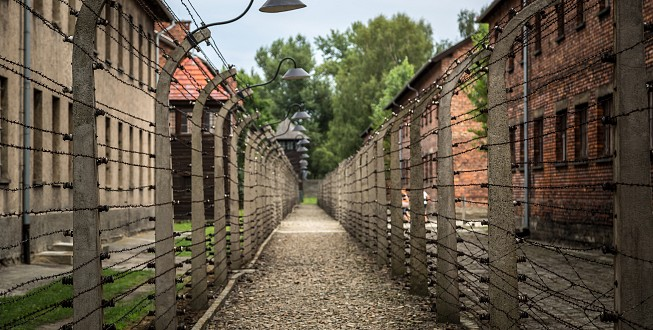 The electric barbed wires, Auschwitz I
